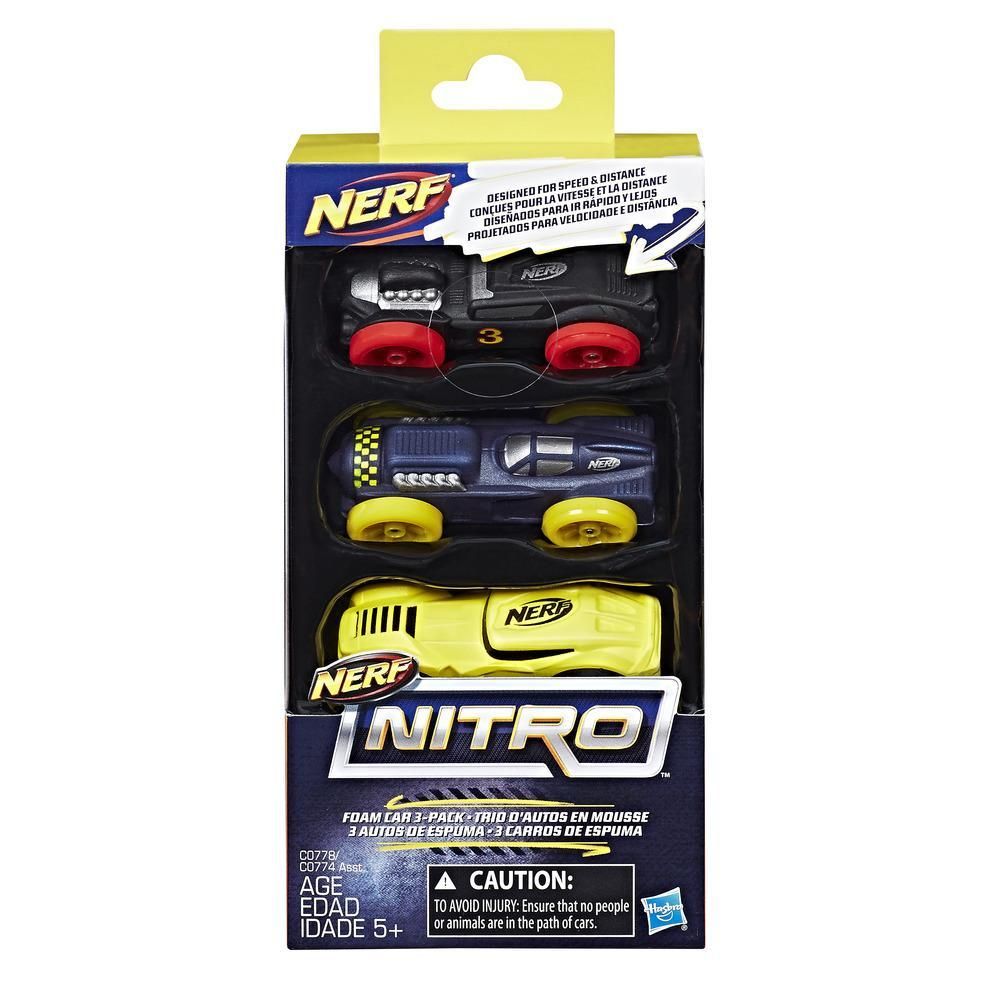 Nerf Nitro Foam Car 3-Pack (Pack 4)