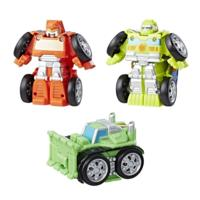 Playskool Heroes Transformers Rescue Bots Flip Racers Griffin Rock Construction Team