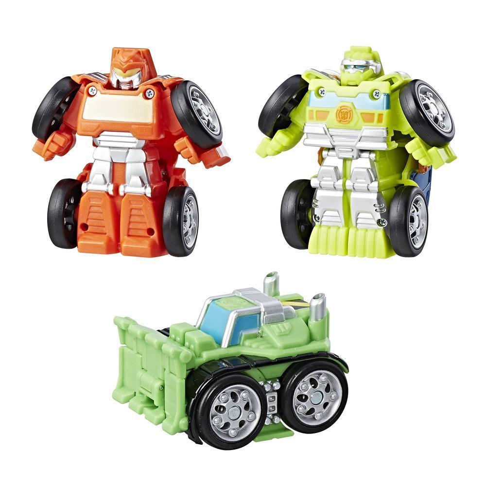 Playskool Heroes Transformers Rescue Bots Flip Racers Griffin Rock Construction Team