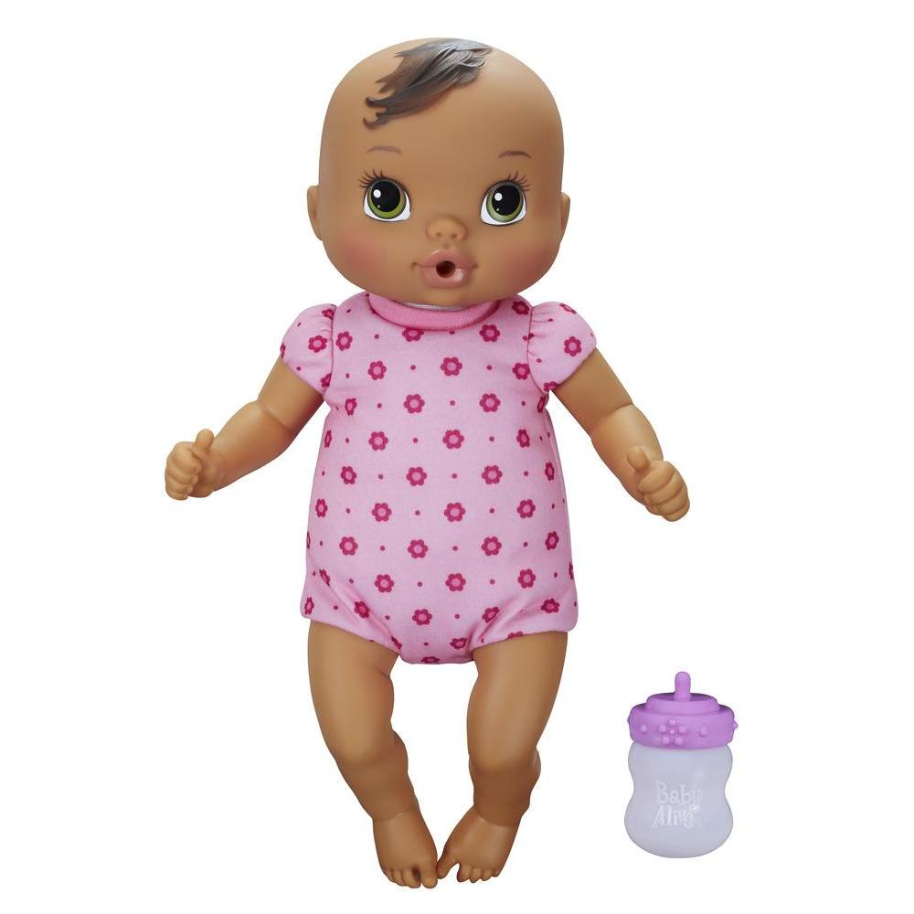 Baby Alive Luv 'n Snuggle Baby Doll - Brown Sculpted Hair