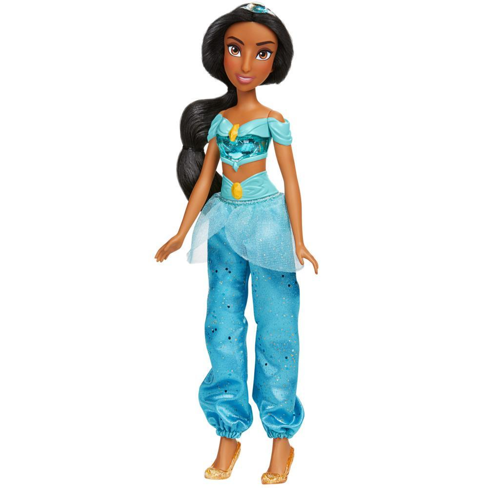 Disney Princess Royal Shimmer Jasmine Doll, Fashion Doll with Skirt and Accessories, Toy for Kids Ages 3 and Up