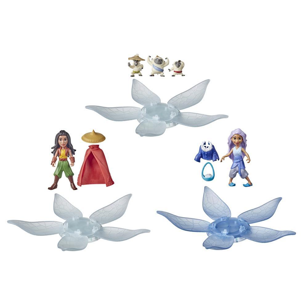 Disney Raya and the Last Dragon Surprise Blind Box 3-Pack, 3 Dolls and 6 Accessories, Toy for Kids 3 and Up