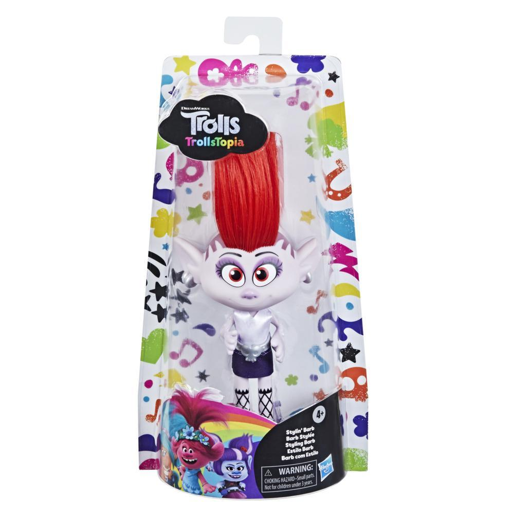 DreamWorks TrollsTopia Stylin' Barb Fashion Doll with Removable Dress and Belt, Trolls Toy for Girls 4 and Up