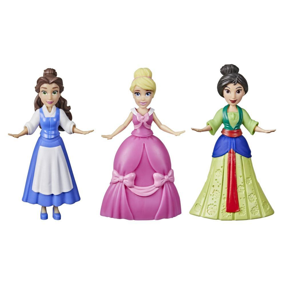 Disney Princess Secret Styles Surprise Princess 3-Pack, Series 3 Mini Fashion Dolls, Toy for Girls 4 Years and Up