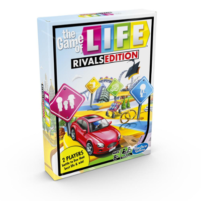 The Game of Life Rivals Edition Board Game; 2 Player Game