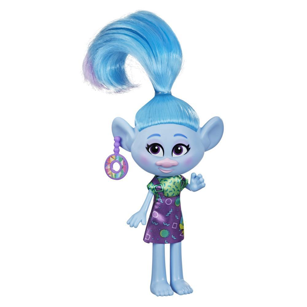 DreamWorks TrollsTopia Stylin' Chenille Fashion Doll with Removable Dress and Earring, Toy for Girls 4 and Up