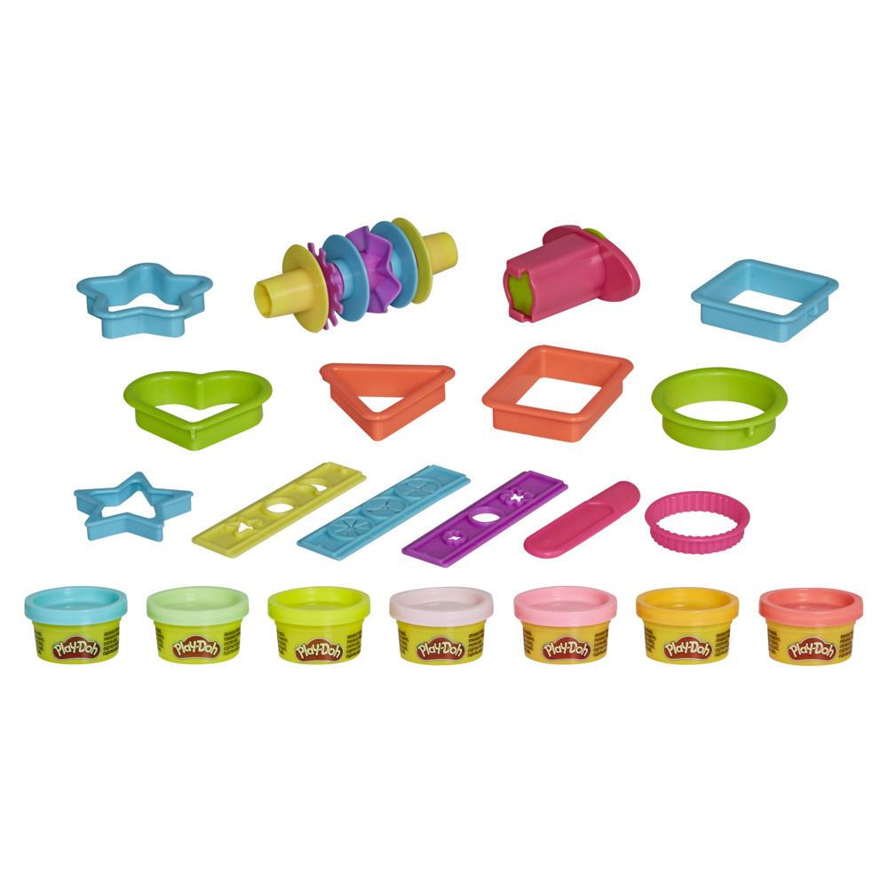 Play-Doh Makin' Shapes Kit for Kids 3 Years and Up with 7 Non-Toxic Play-Doh Colors