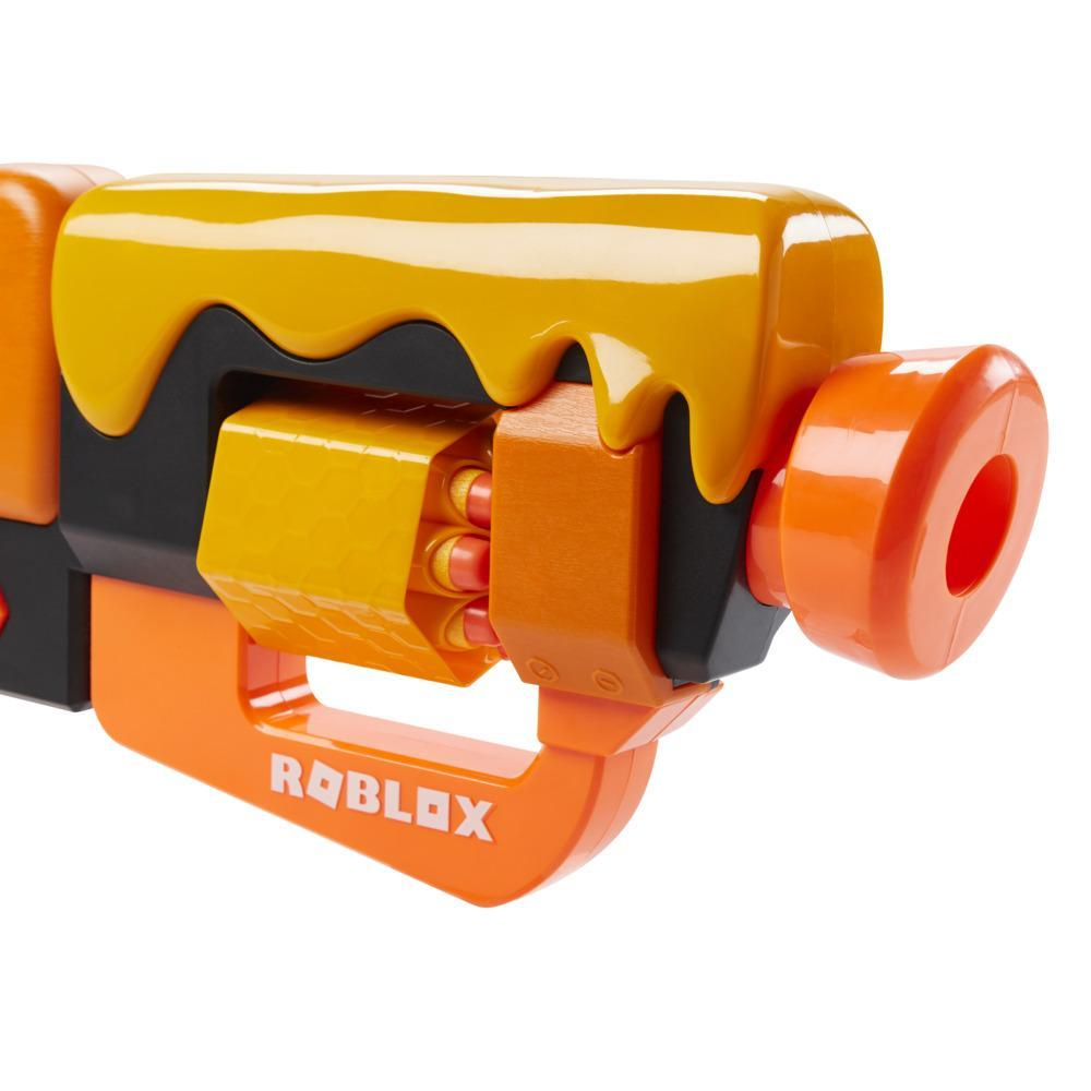 Nerf Roblox Adopt Me!: BEES! Lever Action Blaster, 8 Nerf Elite Darts, Code To Unlock In-Game Virtual Item