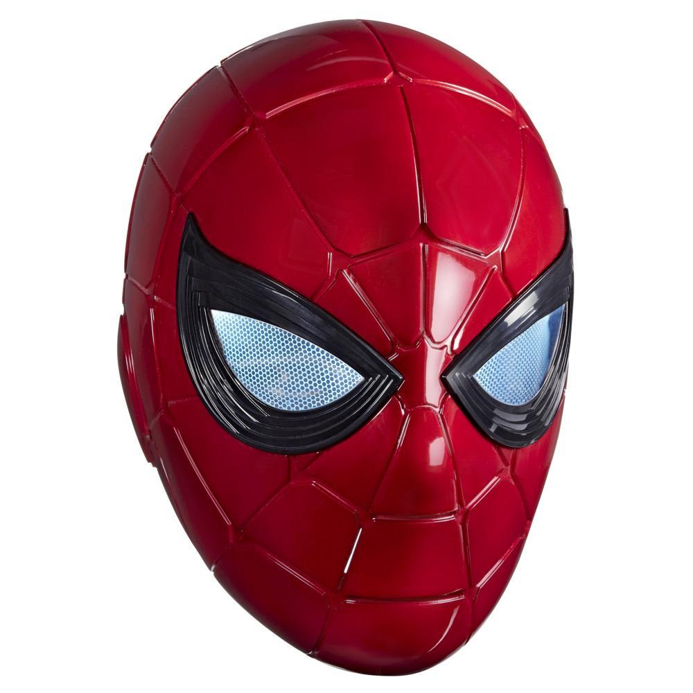 Marvel Legends Series Spider-Man Iron Spider Electronic Helmet with Glowing Eyes, 6 Light Settings and Adjustable Fit