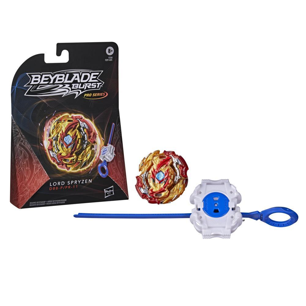 Beyblade Burst Pro Series Lord Spryzen Spinning Top Starter Pack -- Battling Game Top with Launcher Toy