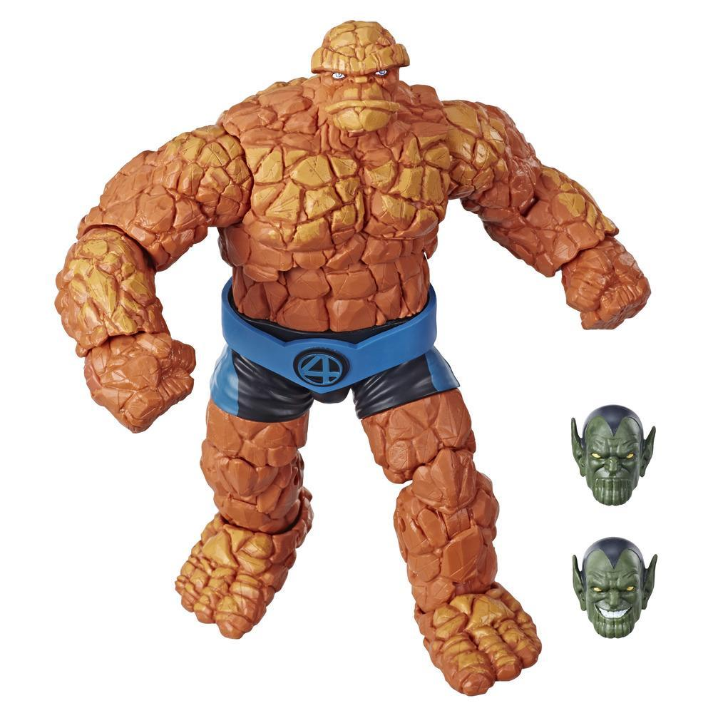 Marvel Legends Series Fantastic Four 6-inch Collectible Action Figure Marvel's Thing, 1 Accessory 2 Build-A-Figure Parts