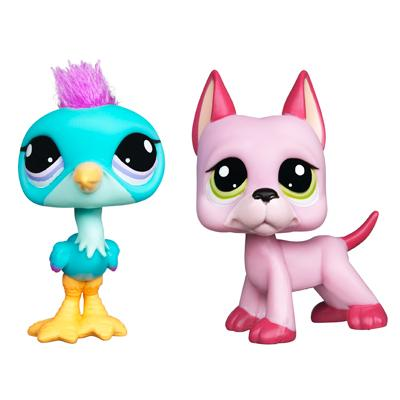 LITTLEST PET SHOP CUTEST PETS Pack (Blue Heron and Great Dane)