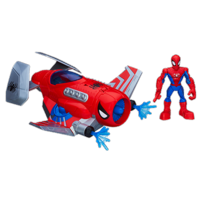 Playskool Heroes Marvel Super Hero Adventures Spider Strike Plane with Spider-Man Figure