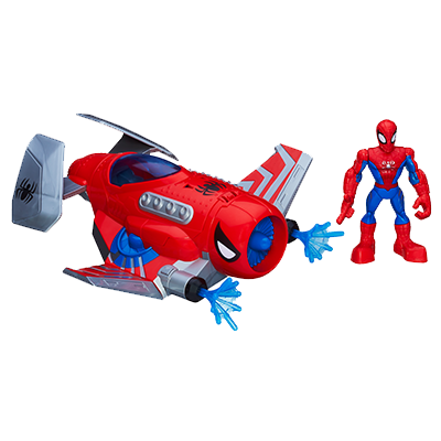 Playskool Heroes Marvel Super Hero Adventures Spider Strike Plane with Spider-Man Figure