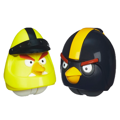 Angry Birds go Yellow Bird Yellow Bird And Black Bird
