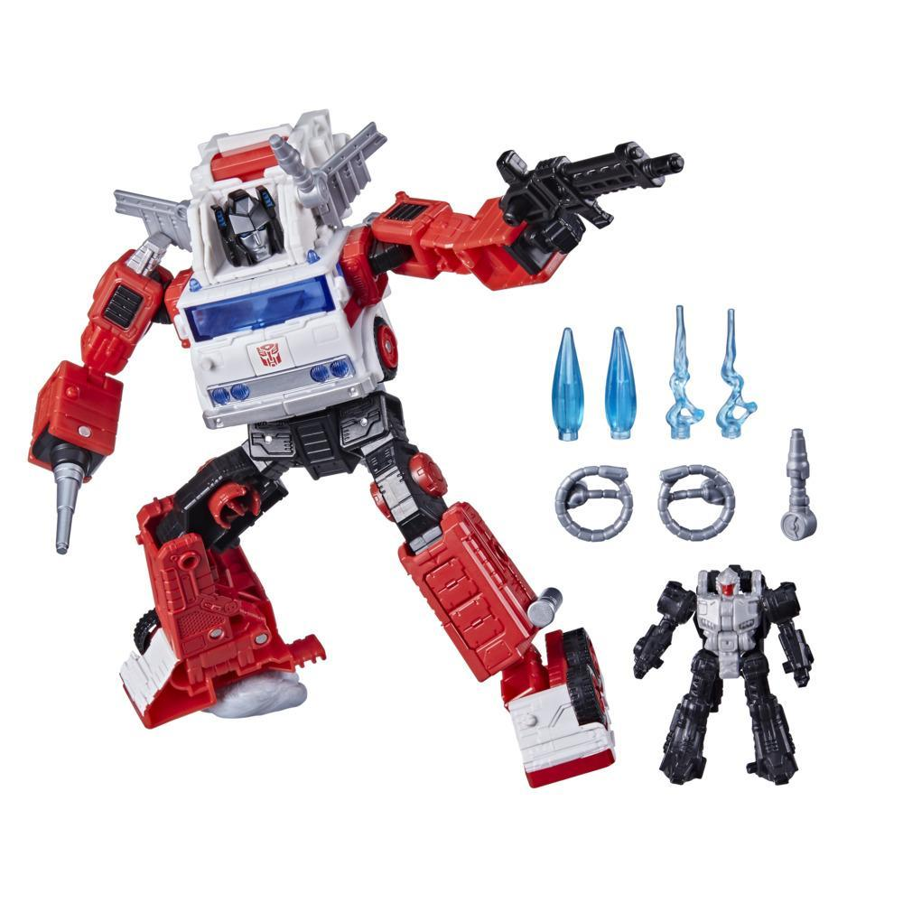 Transformers Generations Selects WFC-GS26 Artfire & Nightstick, War for Cybertron Voyager Class Collector Figure, 7-inch