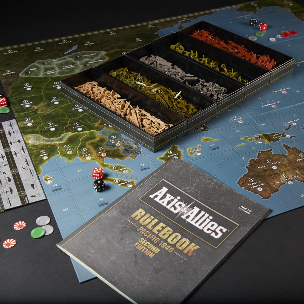 Avalon Hill Axis & Allies Pacific 1940 Second Edition WWII Strategy Board Game, Ages 12 and Up, 2-4 Players