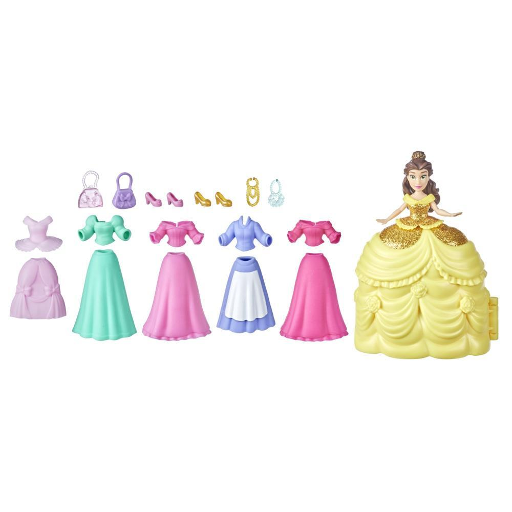 Disney Princess Secret Styles Belle's Fashion Collection; Doll Playset with 6 Outfits; Toy for Girls 4 and Up