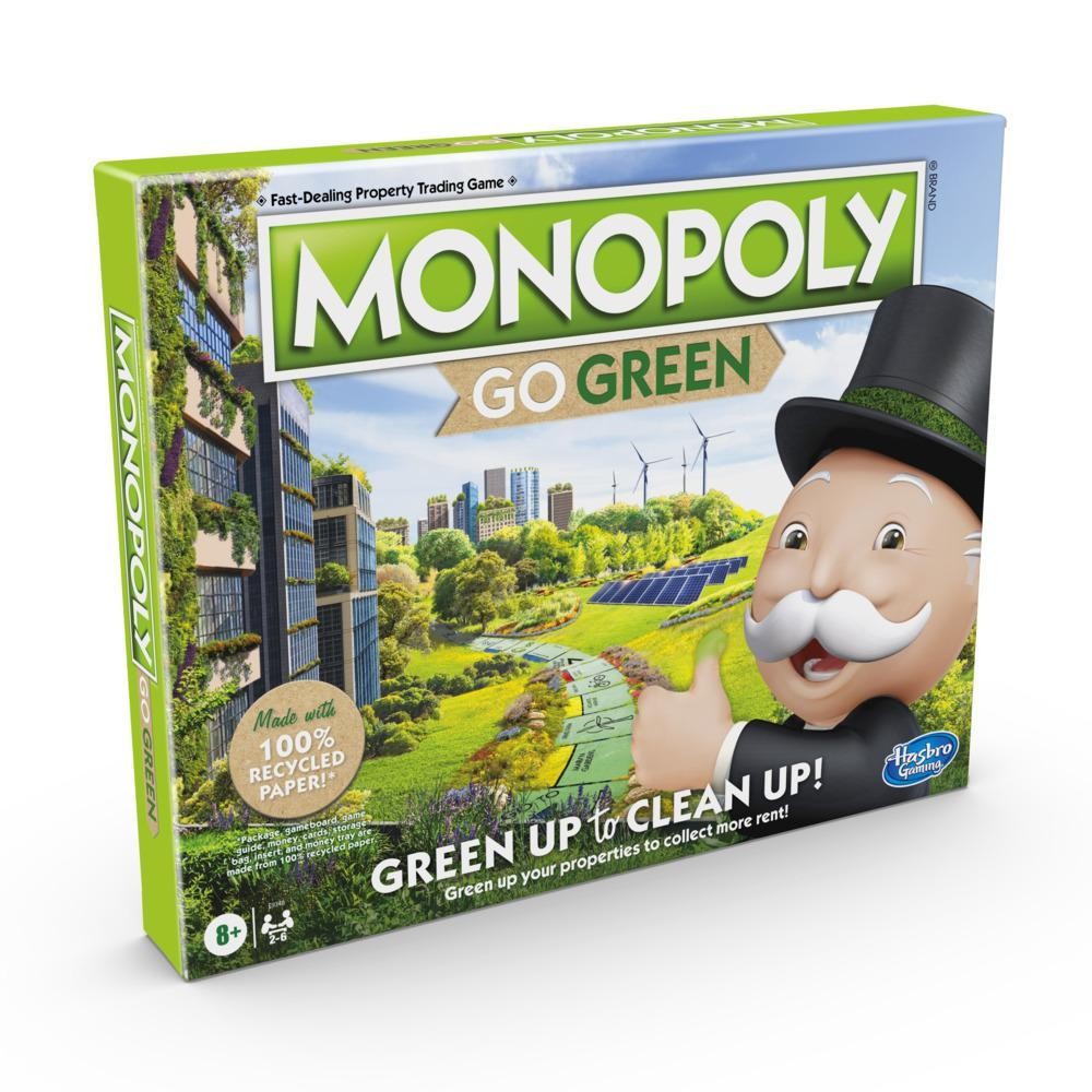 Monopoly: Go Green Edition Board Game for Families Ages 8 and Up