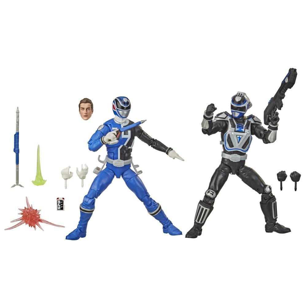 Power Rangers Lightning Collection S.P.D. Squad B Blue Ranger Vs. Squad A Blue Ranger 2-Pack 6-Inch Action Figure Toys