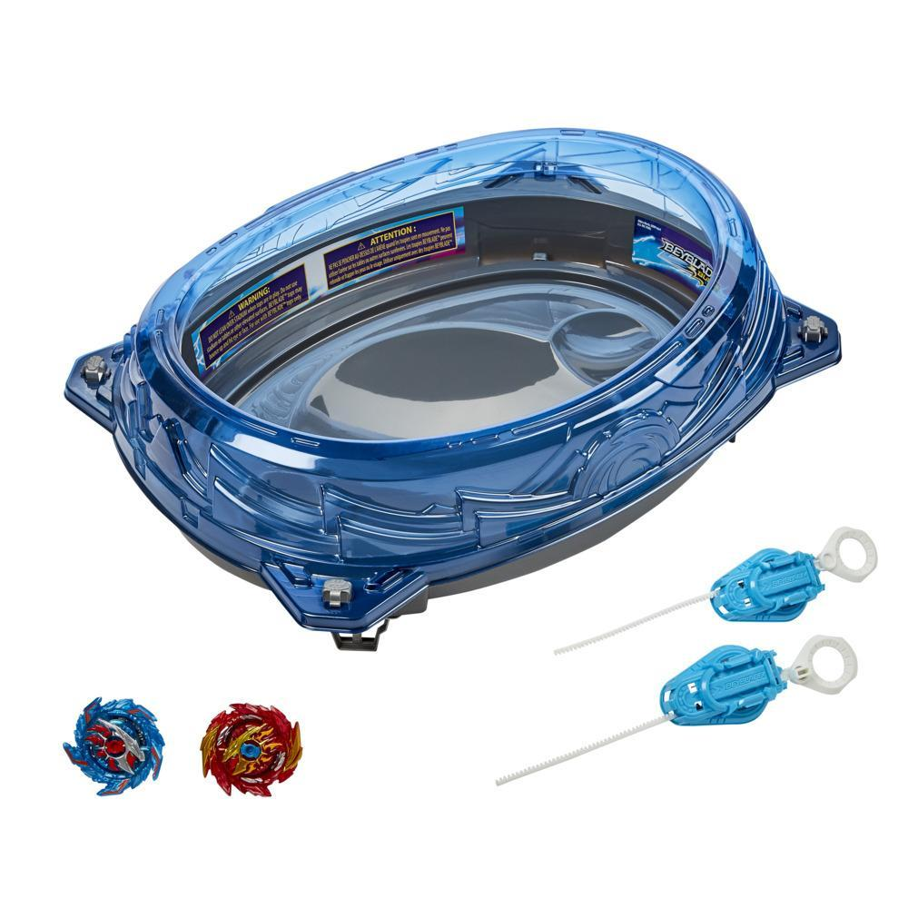 Beyblade Burst Surge Speedstorm Volt Knockout Battle Set –Battle Game Set with Beystadium, 2 Toy Tops and 2 Launchers