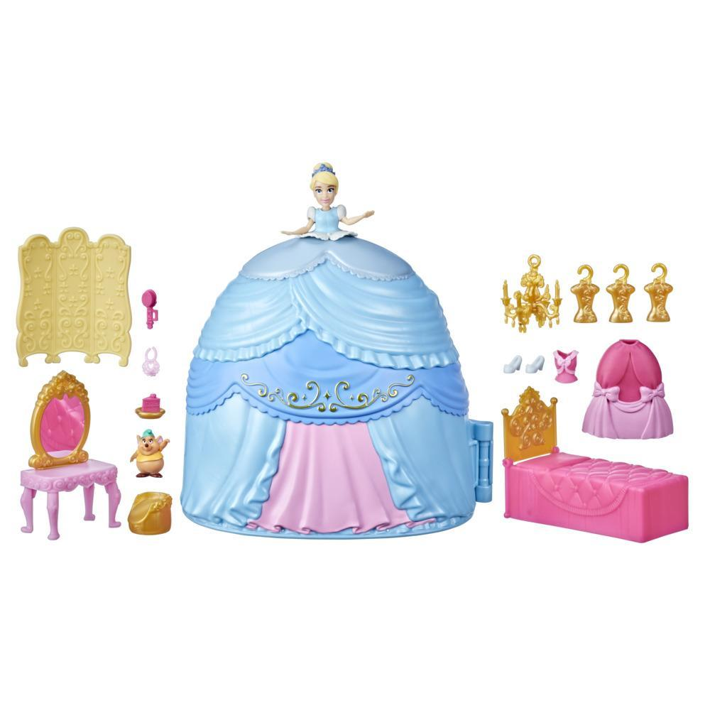 Disney Princess Secret Styles Cinderella Story Skirt, Playset with Doll, Clothes, and More, Toy for Girls 4 Years and Up