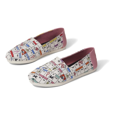 TOMS x Monopoly - Natural Monopoly Game Board Print