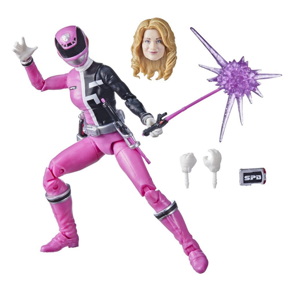 Power Rangers Lightning Collection S.P.D. Pink Ranger 6-Inch Premium Collectible Action Figure Toy with Accessories