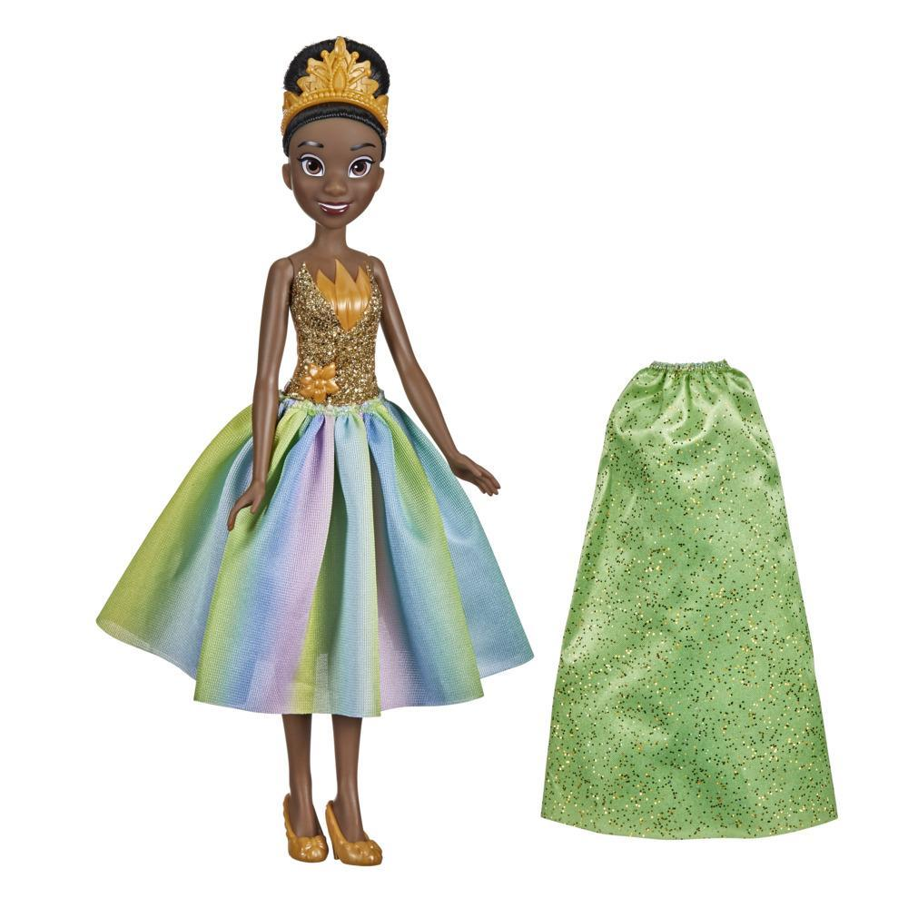 Disney Princess Party Fashion Tiana, Fashion Doll with Extra Skirt and Accessories, Disney Toy for Girls 3 Years and Up