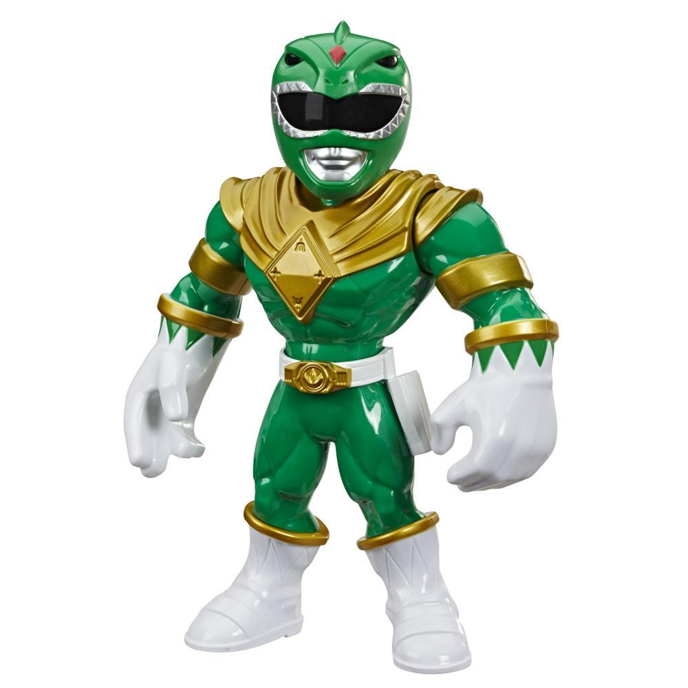 Playskool Heroes Mega Mighties Power Rangers Green Ranger 10-inch Figure, Collectible Toys for Kids Ages 3 and Up