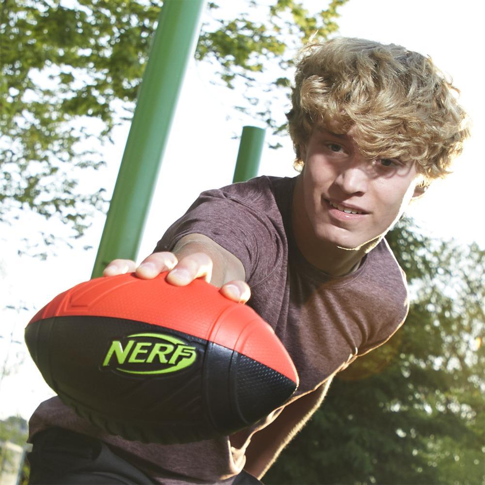 Nerf Pro Grip Classic Foam Football -- Easy to Catch and Throw -- Indoor Outdoor Play -- Red