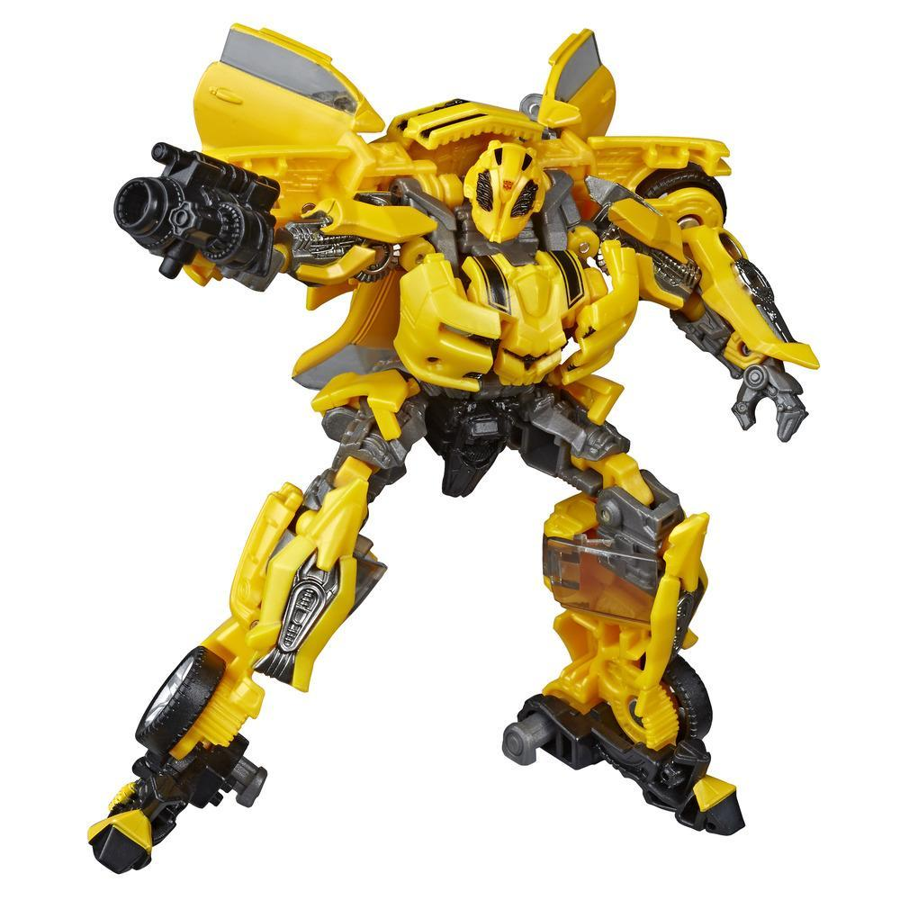 Transformers Toys Studio Series 49 Deluxe Class Transformers: Movie 1 Bumblebee Action Figure - Ages 8 and Up, 4.5-inch