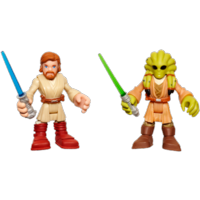 PLAYSKOOL HEROES STAR WARS Jedi Force OBI-WAN KENOBI & KIT FISTO 2-Pack