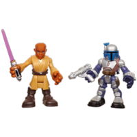PLAYSKOOL HEROES STAR WARS Jedi Force MACE WINDU & JANGO FETT 2-Pack