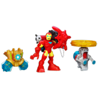 PLAYSKOOL HEROES MARVEL Super Hero Adventures Action Gear IRON MAN Figure