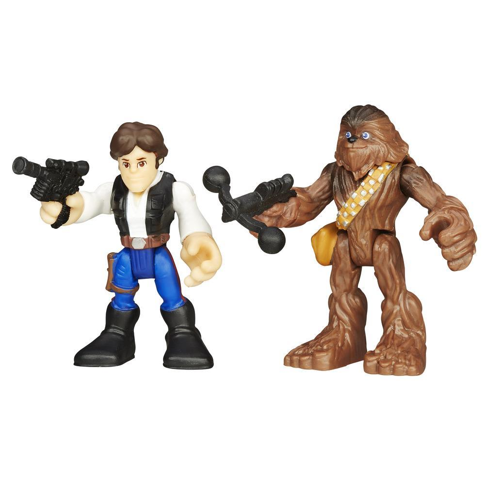 Playskool Heroes Star Wars Galactic Heroes Hans Solo and Chewbacca