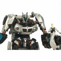 TRANSFORMERS HUMAN ALLIANCE AUTOBOT JAZZ and Captain Lennox