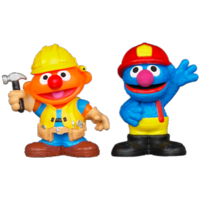 PLAYSKOOL SESAME STREET Friends at Work Ernie & Grover Figures