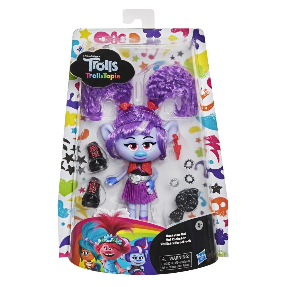 DreamWorks TrollsTopia Rockstar Val Fashion Doll with Outfit and Accessories, Toy for Girls 4 Years and Up