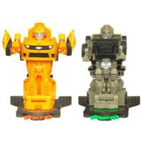 TRANSFORMERS DARK OF THE MOON ROBO POWER BASH BOTS BUMBLEBEE vs. MEGATRON