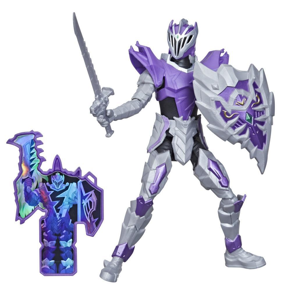 Power Rangers Dino Fury Void Knight Ranger 6-Inch Action Figure Toy Inspired by TV Show with Dino Fury Key and Dino-Themed Accessory