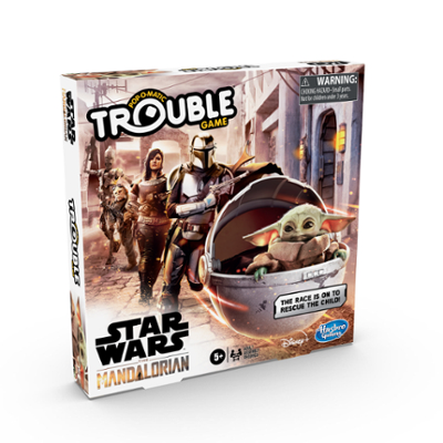 Trouble: Star Wars The Mandalorian Edition Board Game for Kids Ages 5 and Up