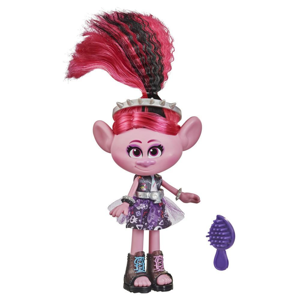 DreamWorks TrollsTopia Glam Rockin' Poppy Fashion Doll with Dress and More, Toy for Girls 4 Years and Up