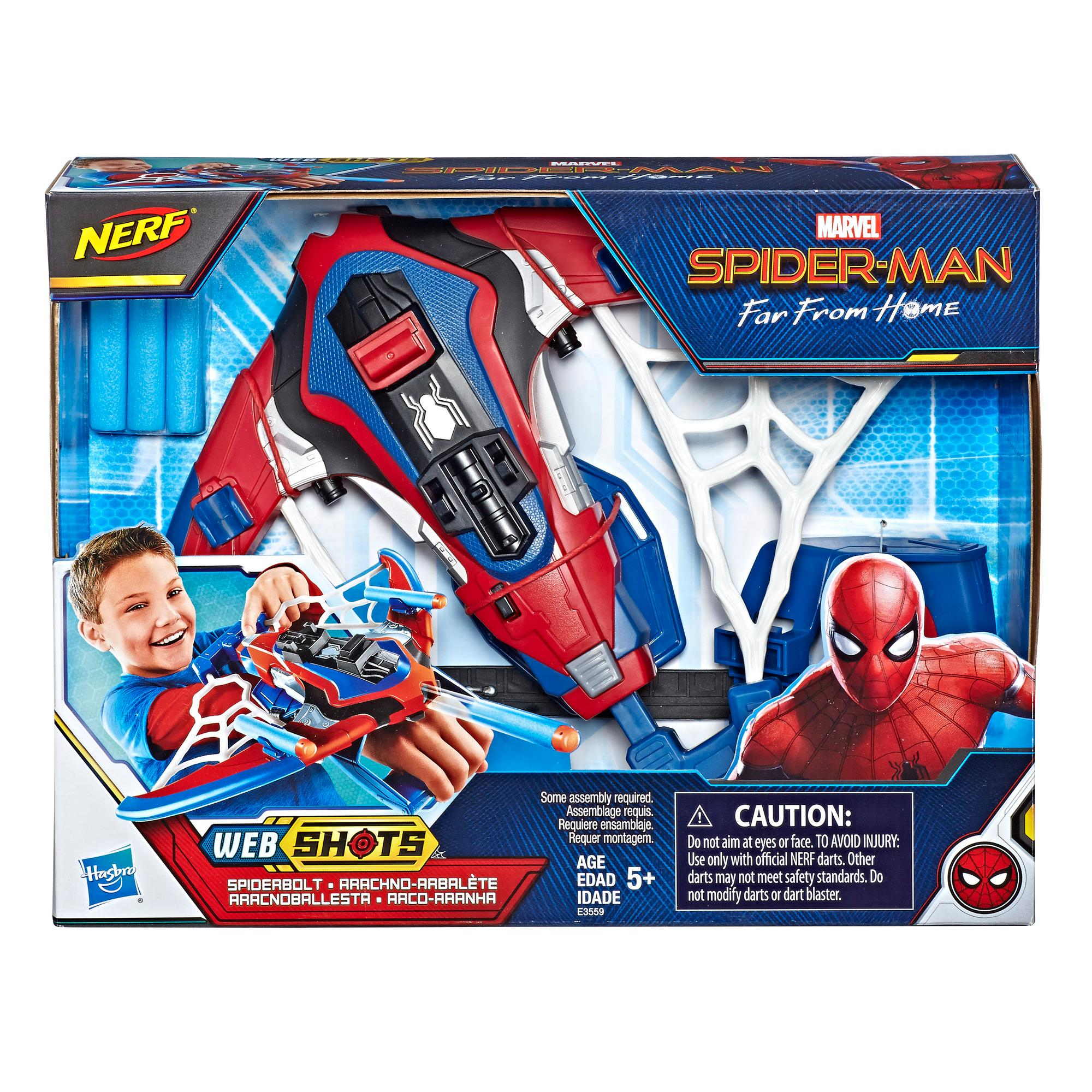 Spider-Man Web Shots Spiderbolt NERF Powered Blaster Toy for Kids Ages 5 and Up