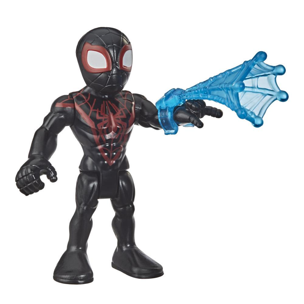 Playskool Heroes Marvel Super Hero Adventures Collectible 5-Inch Miles Morales Action Figure Toy with Web Accessory
