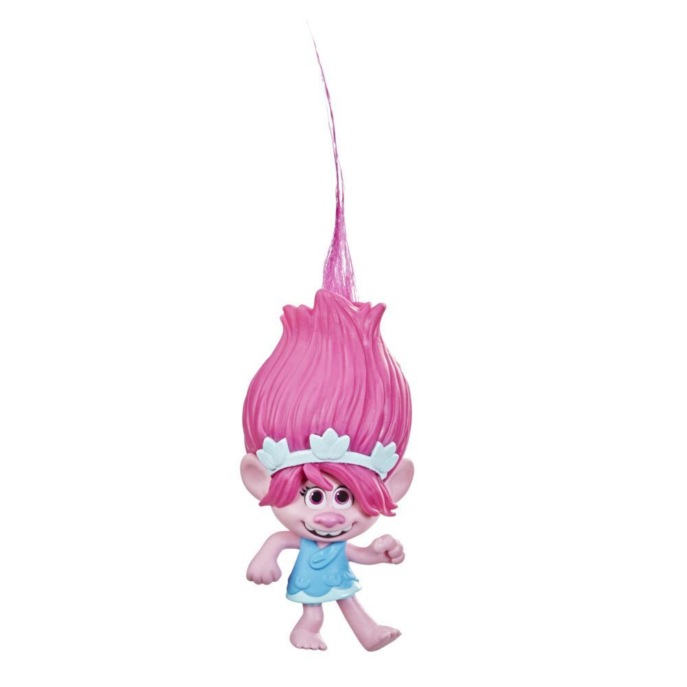 DreamWorks TrollsTopia Surprise Hair Poppy Collectible Doll, 2 Hidden Surprise Critters in Hair, Toy for Kids