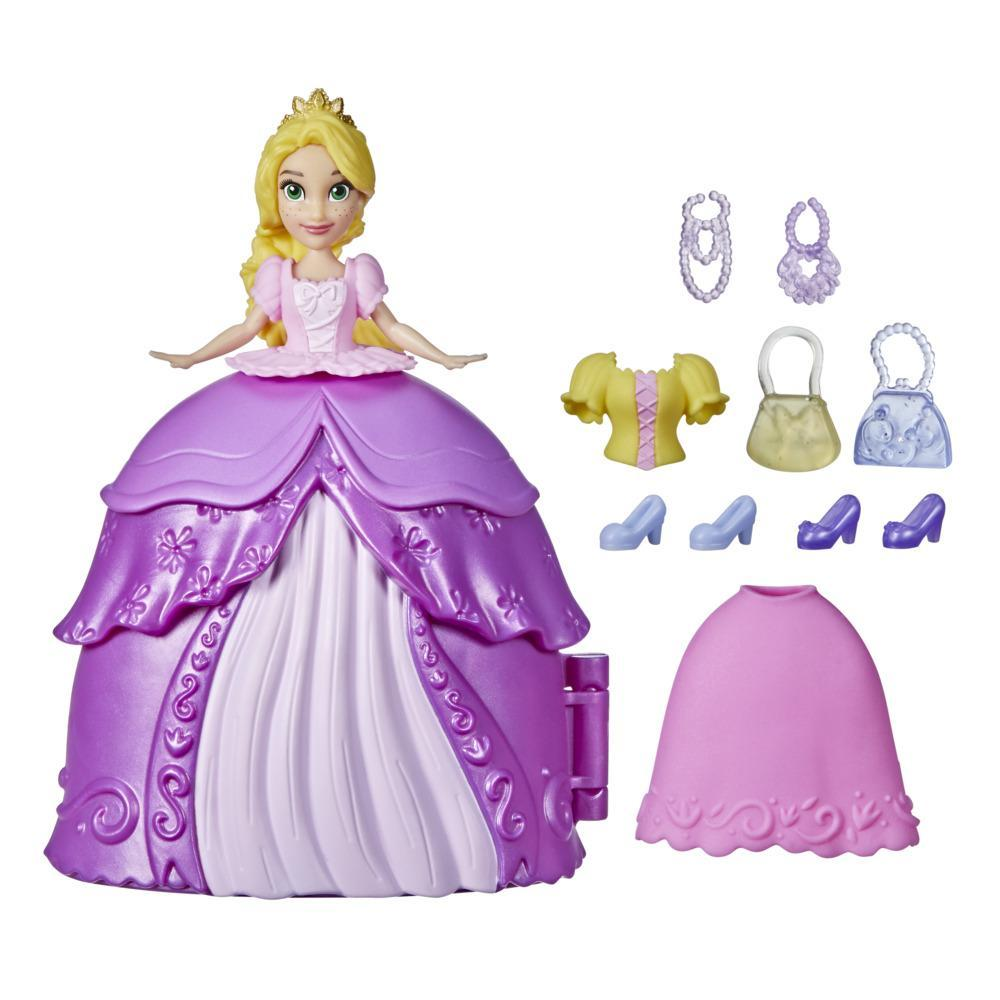 Disney Princess Secret Styles Fashion Surprise Rapunzel, Doll Playset with Clothes and Extras, Toy for Girls 4 and Up