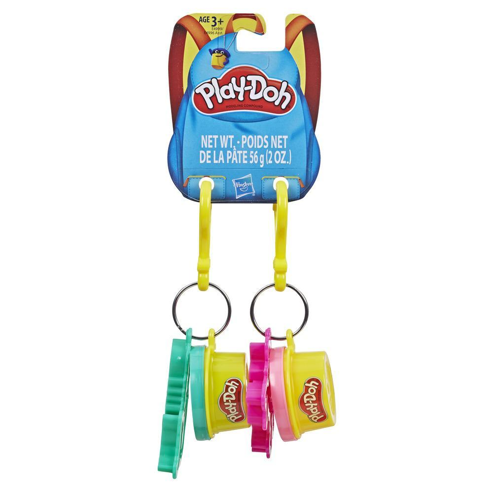 Play-Doh Clip-On Keychain Toy for Backpacks with Mermaid and Unicorn Cutters and 2 Non-Toxic Colors, 1-Ounce Cans