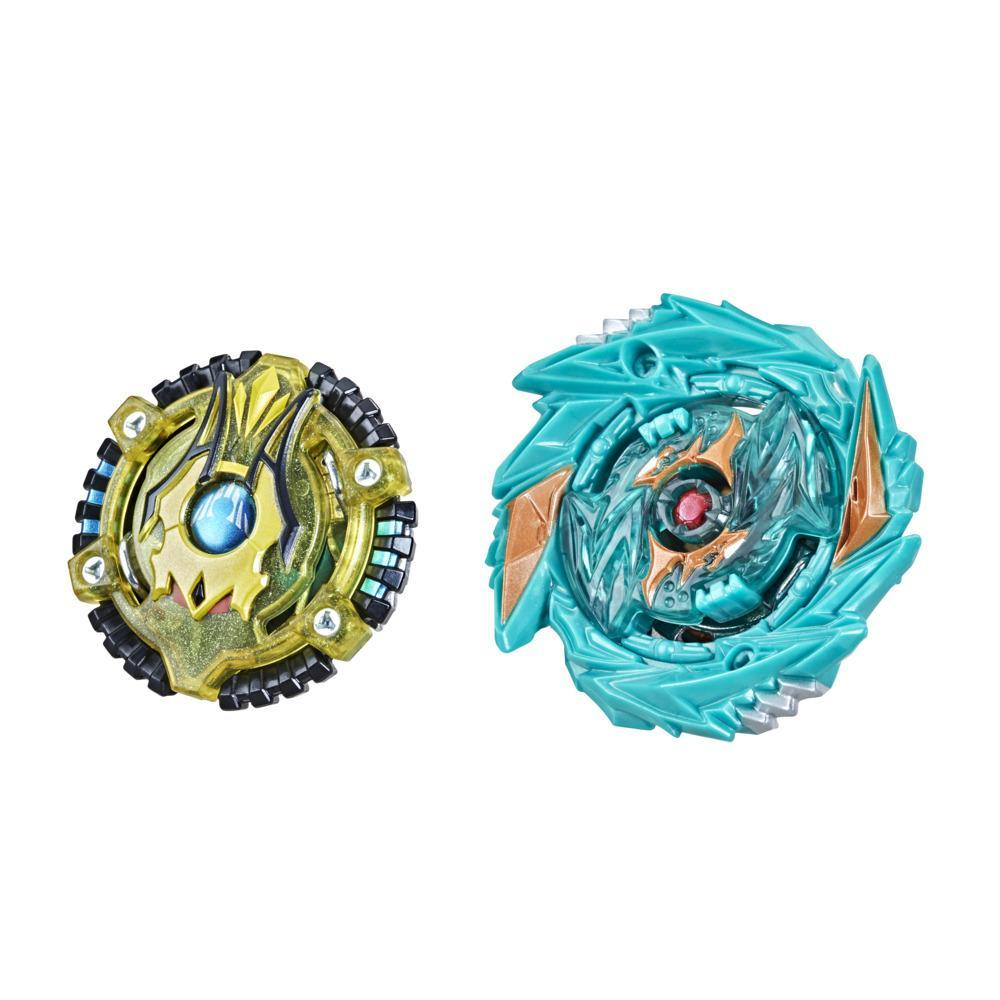 Beyblade Burst Surge Speedstorm Demise Satomb S6 and Anubion A6 Spinning Top Dual Pack -- Battling Game Top Toy