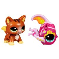 Littlest Pet Shop Walkables Cat and Fish Pets